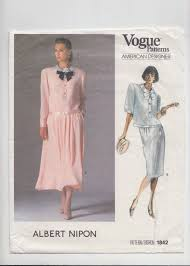 Albert Nipon Size Chart Straight Or Flared Skirt In 2 Lengths And Top Uncut 80s