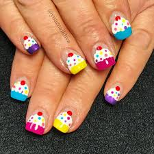 Happy Design Nails Hours Birthday Nails Cupcake Nails Birthday Nail Designs Nail