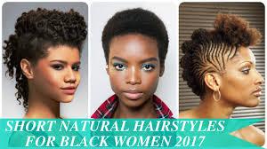 Short Natural Hair Style For Black Women short natural hairstyles for black women 2017 youtube 3397 by wearticles.com