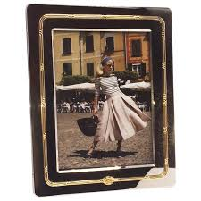 silver and gold gucci picture frame circa 1950 for