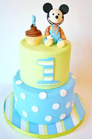 Birthday Cakes 1st Bday Childrens First Green And Blue Baby With