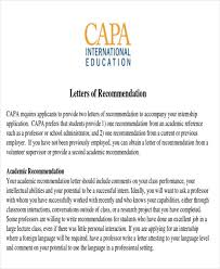 What Is In A Letter Of Recommendation 8 Sample Internship Recommendation Letter Free Sample Example