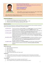 Cable Harness Design Engineer Sample Resume New Sr Electrical Designer Engineerwiring Harness EWIS Chandram Naray