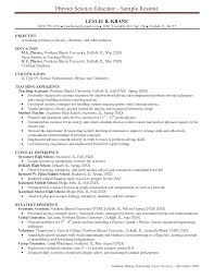 sample of resume objectives for teachers resume builder sample of resume objectives for teachers sample resume resume samples resume high school physics teacher