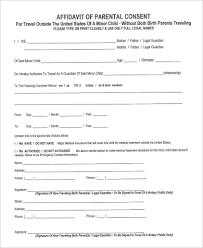 Free Affidavit Form Download Delectable Parent Affidavit Form Ceriunicaasl