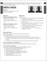 Actuary Resume Actuary Resume Contents Layouts Templates Resume Templates 77