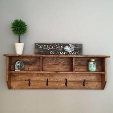 Coat Rack Storage Unit Interesting HOMFA Wall Coat Rack Display Storage Unit Hooks With Shelf 32 Inside