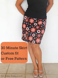Simple Skirt Pattern Amazing 48 Minute Easy Skirt Pattern So Sew Easy
