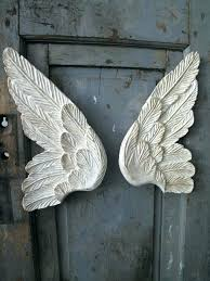 angel wooden wings large whole wall decorations blue