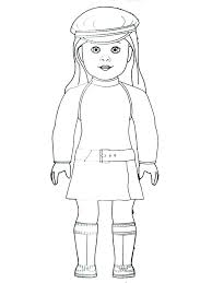 American Girl Doll Coloring Page Collection Of Girl Doll Coloring
