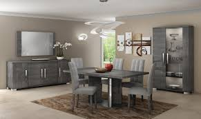 italian dining room furniture. Modern Italian Dining Room Sets With Grey Color Schemes Using Unique Ceiling Pendant Lights Plus Extra Large Square Wall Mirrors By Furnitureciti Store Furniture