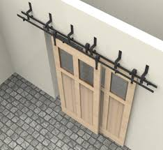 attractive double track barn door hardware