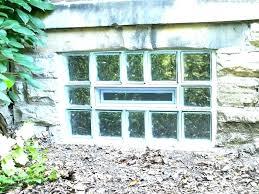 glass block basement windows cost window installation large size cube replacement