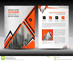 business brochure flyer template in a size orange cover design business brochure flyer template in a4 size orange cover design