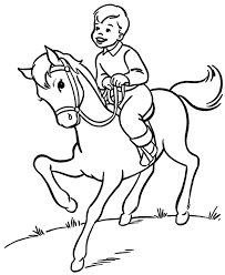 Small Picture Horse Coloring Pages For Kids Animal Coloring pages of