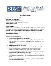 Commercial Loan Officer Job Description Tutmaz