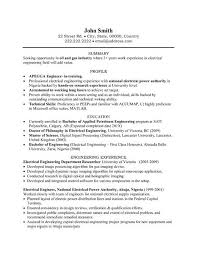 Brilliant Ideas Of Interesting Electrical Engineer Resume Examples