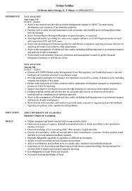 Tax Analyst Resume Sample Tax Analyst Resume Samples Velvet Jobs 2