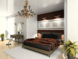 white modern master bedroom. Elegant Bedroom With Recessed Black And Wood Bed On Light Floor White Walls Modern Master