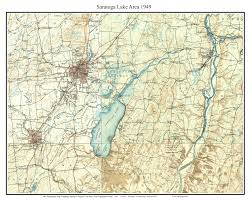 old usgs topo maps of saratoga county new york