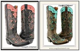 paisley inlay studded genuine leather western boots