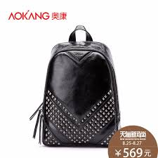 get ations o connell trend leather man bag european and american fashion casual leather backpack rivet motorcycle
