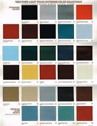 Aston Martin Color Chart Details About 1983 Ford Color Chart Brochure Pickup Bronco Econoline Van Ranger F 150 250