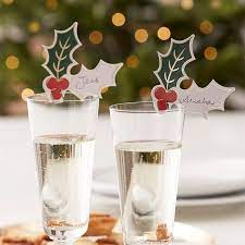 Christmas Party Holly Glass Decorations | Ginger Ray