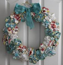 simple and neat accessories for wall decoration using various wreath with ribbon ideas