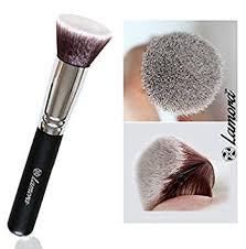 mac liquid foundation brush. foundation makeup brush flat top kabuki for face - perfect blending liquid, cream or mac liquid