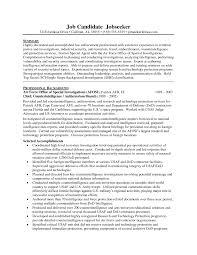 Special Agent Resume Examples Templates Sample Ramp Tomyumtumweb