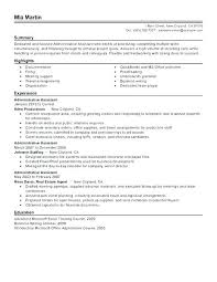 Resume Objective For Executive Assistant Sample Resume Of Admin ...