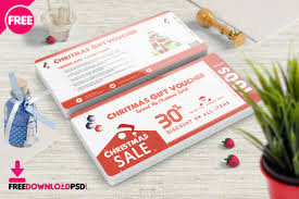 christmas gift card templates christmas gift voucher psd template freedownloadpsd com
