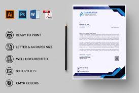 What Is Professional Letterhead Design Professional Editable Letterhead Template