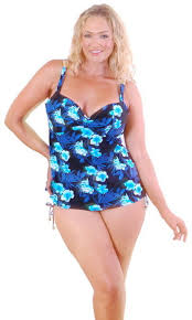 size 18 swimsuit size 16 18 20 22 24 26 tankini blue black tropical bather swimwear
