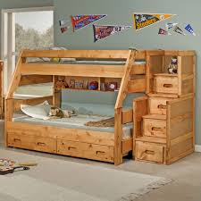 full image for full over full bunk bed with trundle and stairs 75 bunk bed with