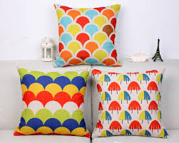 fashion kids throw pillows colorful pop art decoration scaled