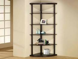 black glass corner shelving unit shelf 5 tier tall for living room decorating interior of your