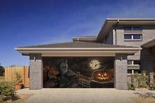 pumpkin 3d effect garage door billboard sticker cover
