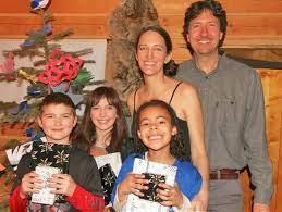 Glenn Villeneuve with Trisha Kazan and Kids | Thecelebsinfo