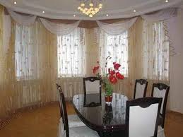 Amazing Modern Dining Room Sheer Curtain Ideas