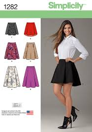 Simplicity Skirt Patterns Custom Simplicity 48 Misses' Skirt With Length And Trim Variations
