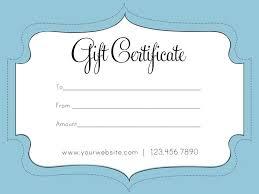 Custom Gift Certificate Templates Free Printable Custom Gift Certificates Personalized Template