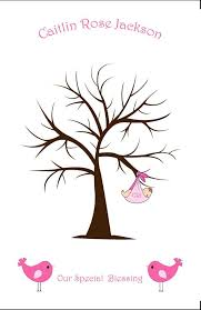 Baby Guest Book Alternative Sweet Thumbprint Tree Fingerprint Fingerprint Baby Shower Tree
