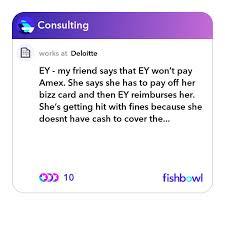 my friend says that ey won t pay amex