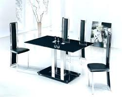 Glass Dining Sets 4 Chairs Small Table Set For Chair Elegant Varazze Oval And