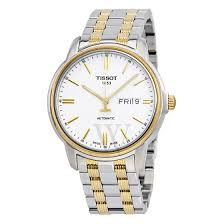 men s automatic iii two tone silver and gold tone stainless men s automatic iii two tone silver and gold tone stainless steel white dial tissot shop by brand world of watches