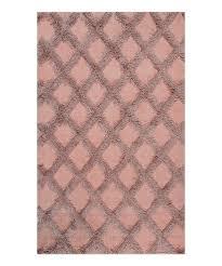 pink francene diamond trellis rug