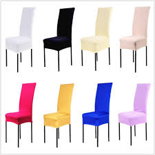 dining chair covers. 1 Piece Polyester Spandex Dining Chair Covers For Wedding Party Cover Brown Seat