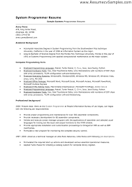 computer programmer resume samples computer programmer resume sample best resume example